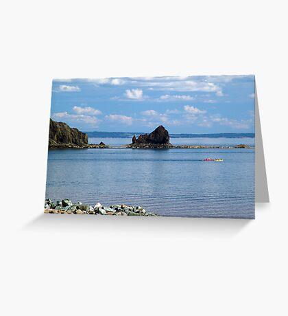 Kayaks at Five Islands Greeting Card