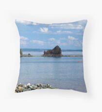 Kayaks at Five Islands Throw Pillow