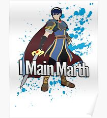 I Main Marth - Super Smash Bros. Poster