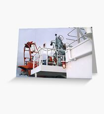 the ships works Greeting Card