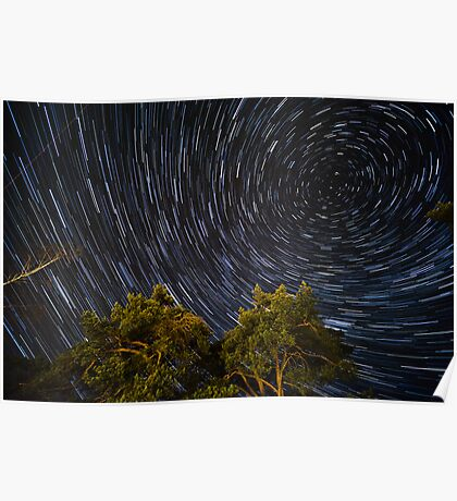 Startrail Poster