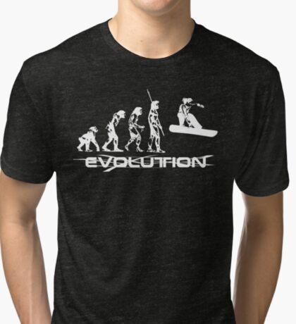 evol white  Tri-blend T-Shirt