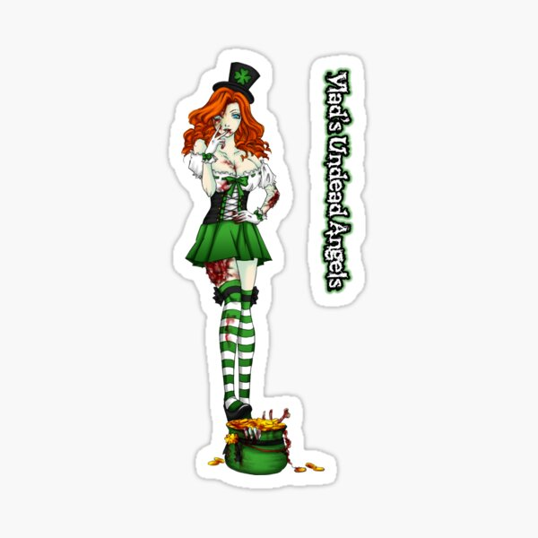 Undead Angels: Zombie St. Patty's Day Sticker