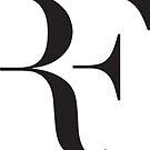 Roger Federer Tennis Aufkleber von clelkin