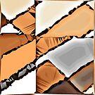 Tile #3 - Pyramid Heatstroke - 8-bit Sandy Sepia by MoMoJaJa