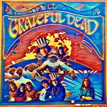 Grateful Dead Retro DESIGN  by lisaartlife1