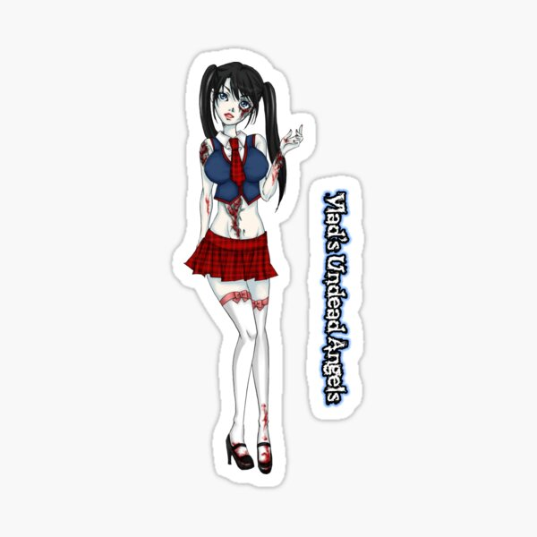 Udead Angels: Zombie School Girl Sticker