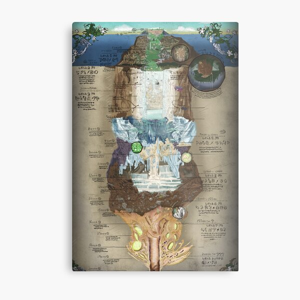 Made in Abyss • Abyss Chart Metal Print