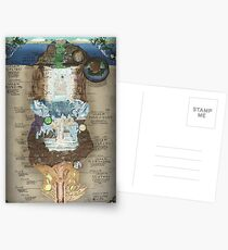 Hergestellt in Abyss • Abyss Chart Postkarten