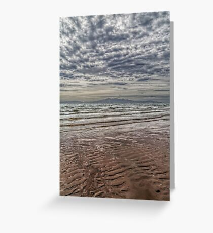 Wave Cloud and Wave Sand. Greeting Card