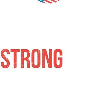 United Strong Stand Together Distressed Football Helmet American Flag by creationseven