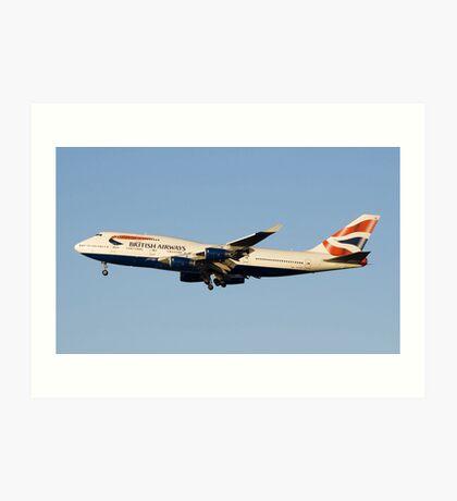 British Airways 747 Art Print