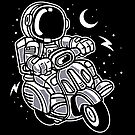 Astronaut Riding a Space Scooter by scooterbaby