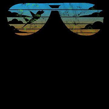 Fight's On! Vintage & Retro Style Aviator Sunglasses Jet Fighter Design by RealPilotDesign