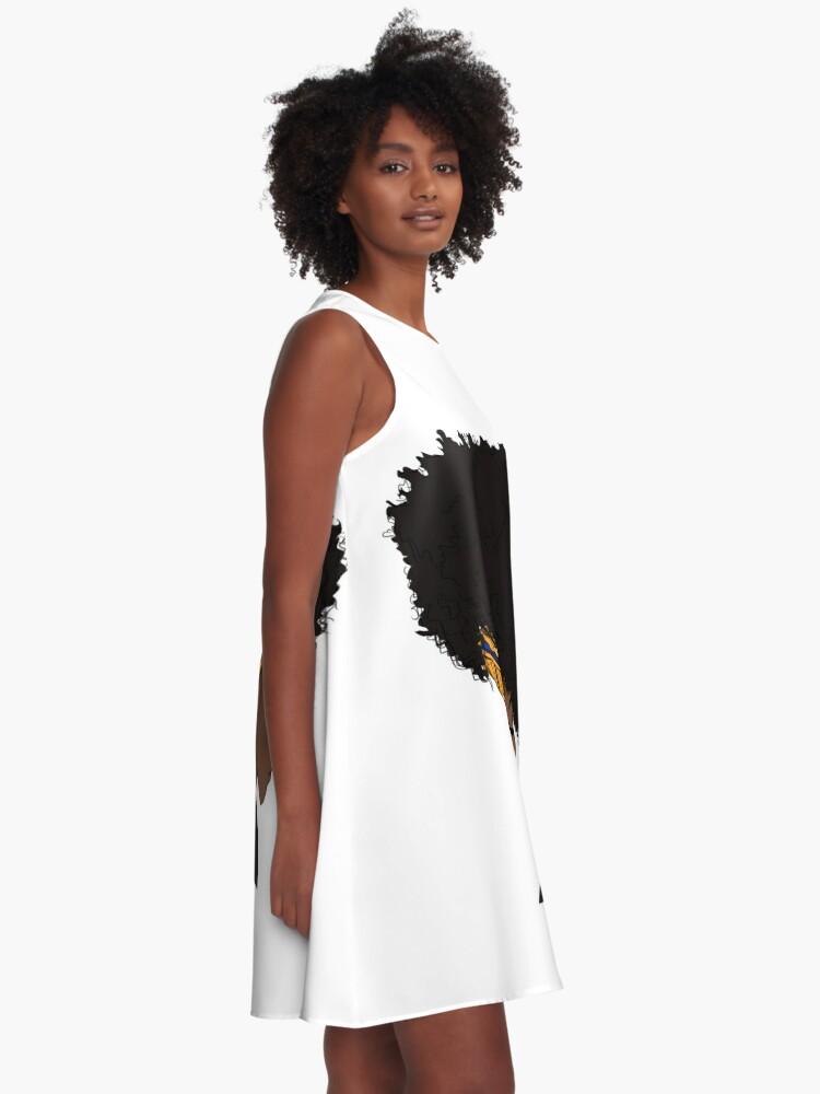 Alternative Ansicht von großer Afro A-Linien Kleid