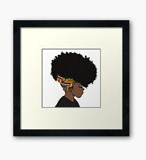 big afro Framed Print