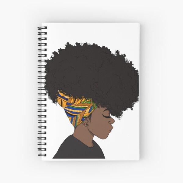 big afro Spiral Notebook