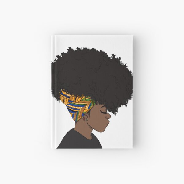 big afro Hardcover Journal