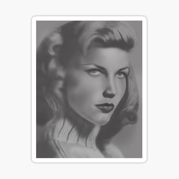 Lauren Bacall Portrait Sticker