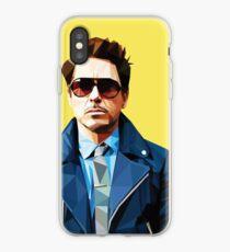 Robert Downey Jr - Low Poly Vector iPhone Case