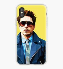 Vinilo o funda para iPhone Robert Downey Jr - Vector Low Poly