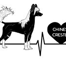 Chinese Crested Love Heartline by aheadgraphics