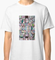 Abstract lines colorful vibrant colors  Classic T-Shirt