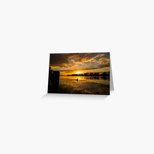 Sunrise rowing Greeting Card