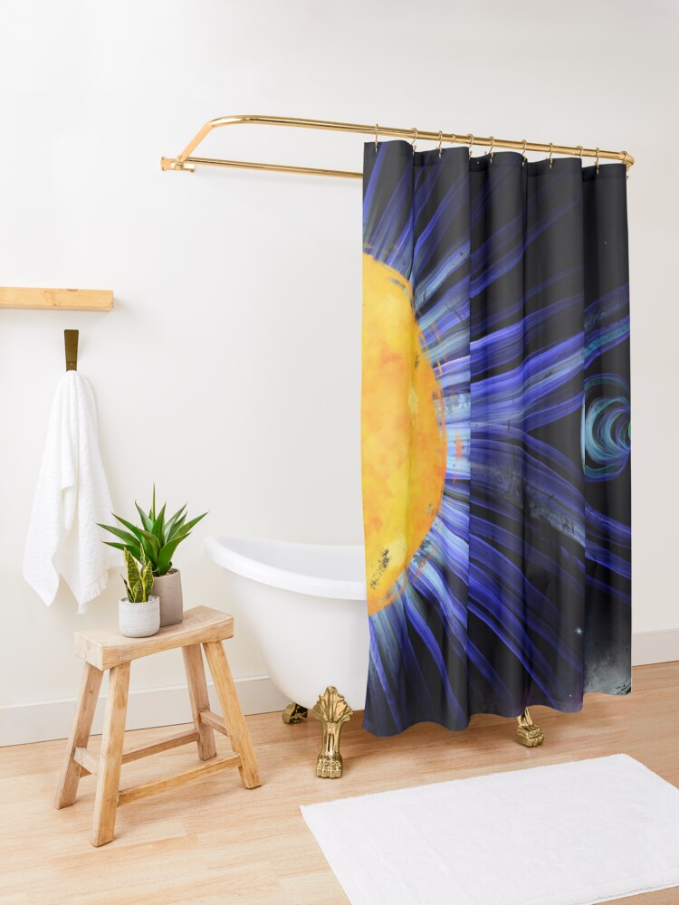 Alternate view of Magnetic Fields Shower Curtain
