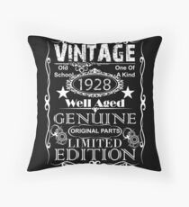 Born in 1928 Ninety Birthday Ninetieth Birthday Throw Pillow