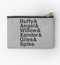The Scooby Gang Vintage Black Studio Pouch