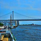 Ben Franklin Bridge by Morris Klein