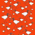 Ian pattern orange by Matt Mawson