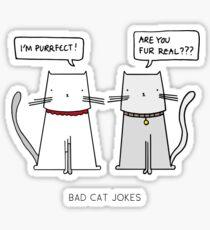 BAD CAT JOKES Sticker