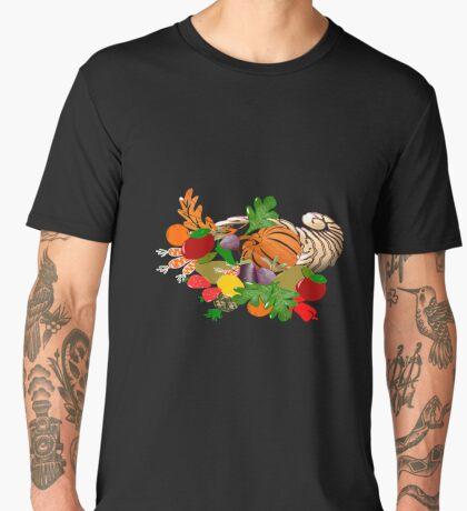 A pattern of acorn,pine cone & Leaves /cornucopia(780  Views) Men's Premium T-Shirt