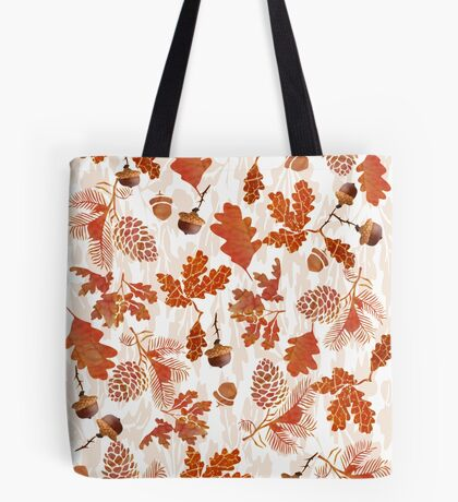 A pattern of acorn,pine cone & Leaves /cornucopia(780  Views) Tote Bag