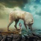 Einsamer Wolf und Mädchen von Slaayer