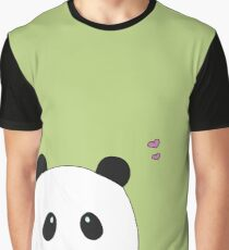 Pandalove in grün Grafik T-Shirt
