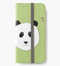 Pandalove in grün iPhone Flip-Case/Hülle/Skin