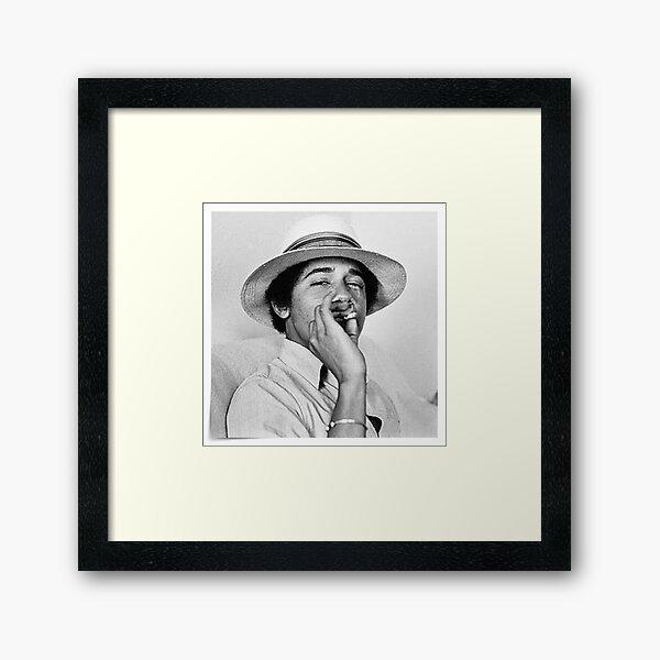 Young Obama Framed Art Print