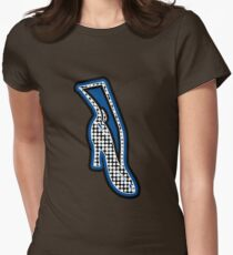 THE BLUE SHOE  | MINIMALIST | POLKADOT AND MID BLUE POP ART IN FASHION  Women's Fitted T-Shirt