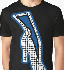 THE BLUE SHOE  | MINIMALIST | POLKADOT AND MID BLUE POP ART IN FASHION  Graphic T-Shirt