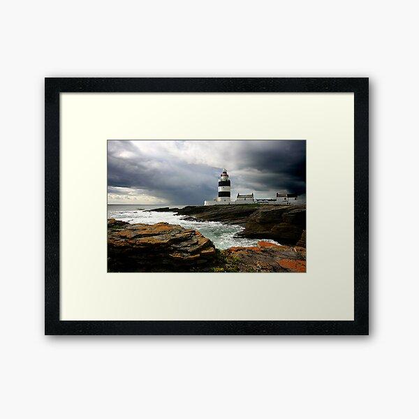 Storm Brewing at Hook Head Lighthouse Framed Art Print