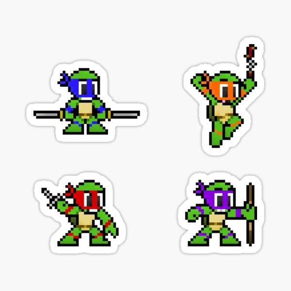 8-Bit TMNT Sticker