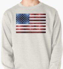 Rotes Blau der USA-Flaggen funkelt Sweatshirt