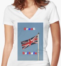 Great Britain Women's Fitted V-Neck T-Shirt