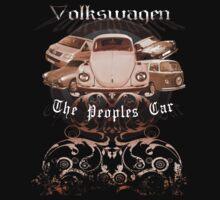 Volkswagen Tee Shirt: People's Car-Bronze