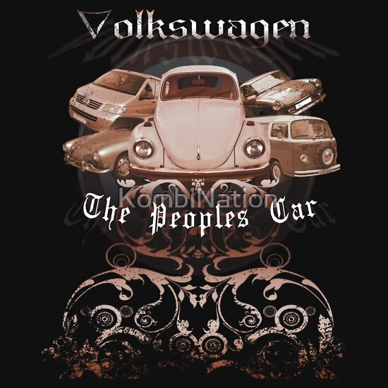 TShirtGifter presents: Volkswagen Tee Shirt: People's Car-Bronze