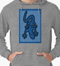 LIZARD ON GLASS | MINIMALIST POP ART IN MID BLUE  Lightweight Hoodie