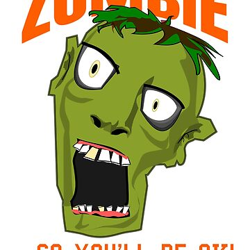 Funny Brain Eating Zombie Halloween T-shirt by CliqueBank